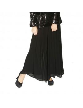 Pantalon falda plisado LOLA CASADEMUNT n negro